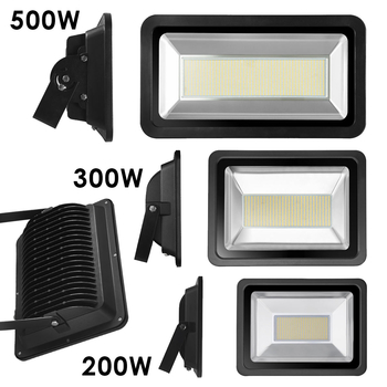 200W, 300W och 500W LED strålkastare 230V valbar med och utan rörelsesensor