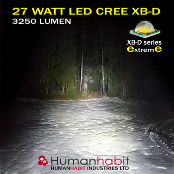 6 pack CREE XB-D - 2x18W LED miniatyr + 4x27W LED 12-24V