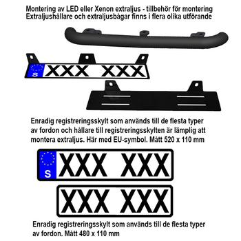 55W Xenon Extraljus Ø185mm