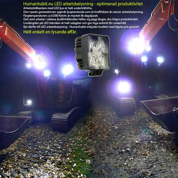 27W CREE LED arbetsbelysning OLEDONE 9-32V