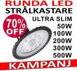 Industri LED belysning för 230V valbar 50W, 100W, 200W, 300W och 500W för lager, verkstad och industri