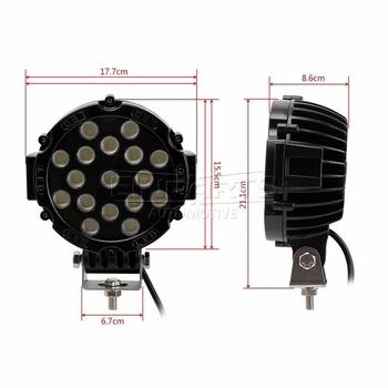 51W LED extraljus diameter 3700 lumen 10-30V