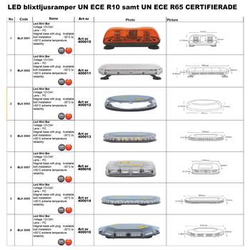 LED blixtljus 127x28mm ECE R10  R65 LW0032-ALR