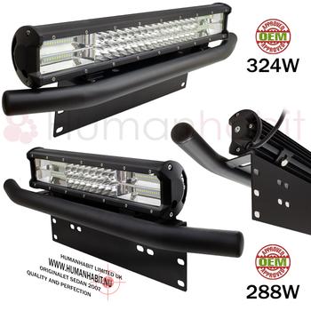 7D LED extraljusramp combo med sidledes justerbart fäste under 9-32V