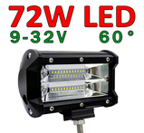 72W LED arbetsbelysning / backljus 60° 9-32V