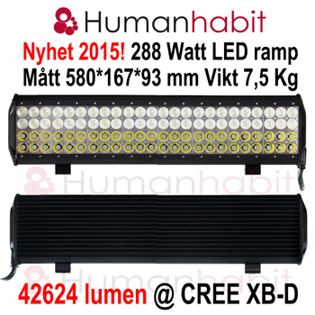 36-288W LED ramp 4 radig CREE XB-D generation 2