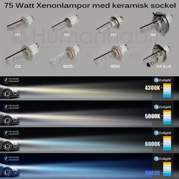 Xenonlampa 2pack 75W samt 100W