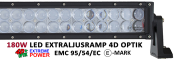 240W LED ramp Osram 4D optik E-mark EMC sidomonterad 1138mm