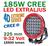 185W LED extraljus CREE Extreme 15500 lumen
