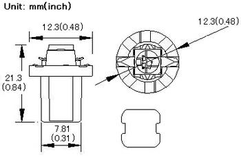B8.5D diodlampa