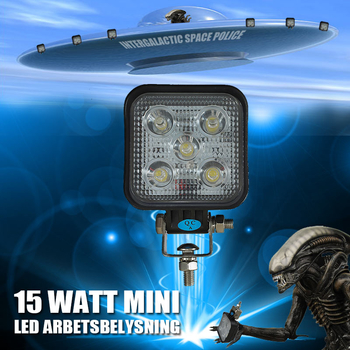 15W mini LED arbetsbelysning 60° 12-24V