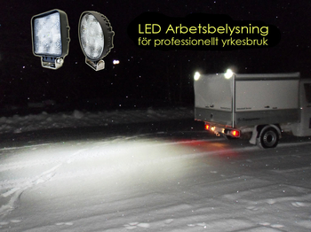15W LED arbetsbelysning ECE R10 flood 60° 9-32V