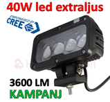40W CREE LED extraljus 3600 lumen L0106