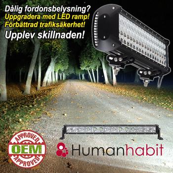210-480W LED ramp Philips Extreme 4D fäste undertill E-märkt Einparts