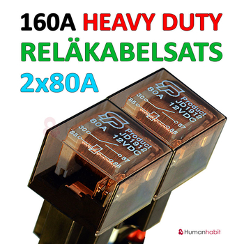 Reläkabelsats 160A Heavy Duty för 4st extraljus eller 4st xenon ballast (drivdon)
