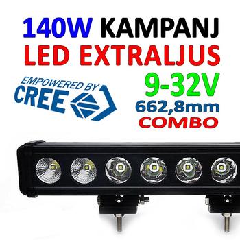 140W LED extraljusramp COMBO 9-32V 12600Lm LB0020