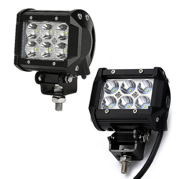 2 pack 18W CREE LED extraljus 60° 12-24V