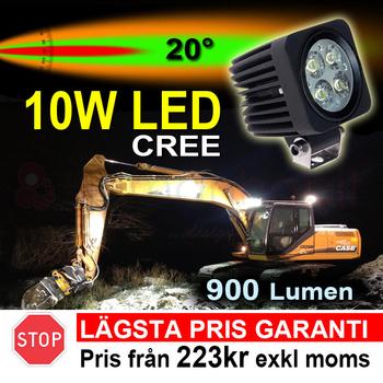 2 pack 10W CREE LED miniatyr valbar med 4 spridningsvinklar