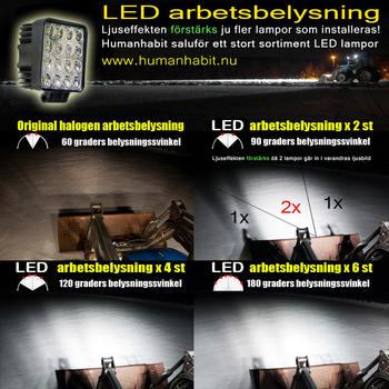 48W LED arbetsbelysning 60° CREE 12-24V