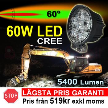 2 pack 60W CREE  LED flerpack rabattköp 60° 12-24V