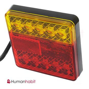 Baklykta LED 12 Volt 100x100mm E4-märkt
