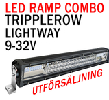 Exklusiv Lightway Tri-Row LED extraljusramp 505mm 9-32V