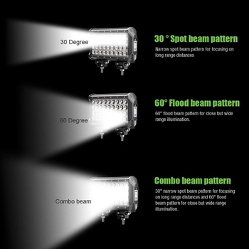 4-radig LED extraljusramp Extreme Series valbara 72, 108, 144, 216 och 288W