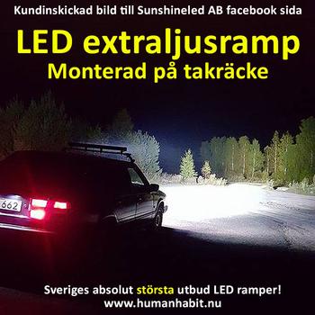 36W-288W LED ramp combo valbar storlek CREE 9-32V