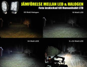 10 pack 18W ECE R10 LED arbetsbelysning 60° Epistar 12-24V