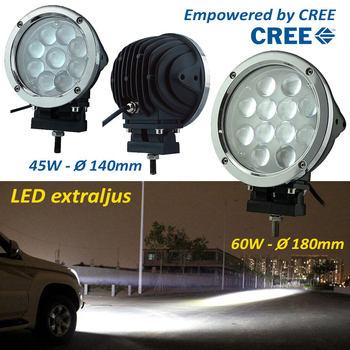 60W LED  extraljus CREE diameter 180mm