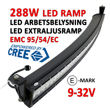 288W LED ramp CREE XB-D curved E-mark 1341 mm