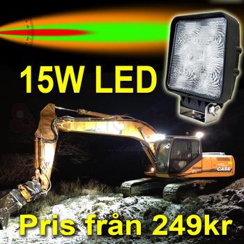 6 pack 15W LED flerpack rabattköp 60° Epistar 12-24V