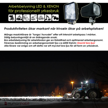 60W LED arbetsbelysning 60° CREE 12-24V