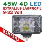 45W 4D optik LED extraljus 30° spot 12-24V
