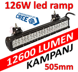 126W LED extraljusramp 505mm CREE 9-32V combo
