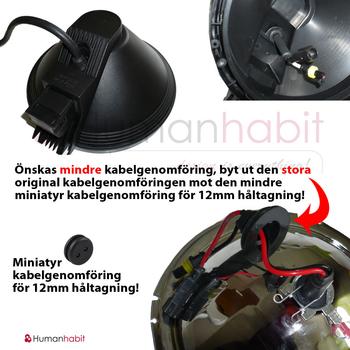 Kabelgenomföring för extraljus och helljus