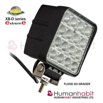 10 pack 48W LED arbetsbelysning 60° CREE 12-24V totalt 57500 lumen