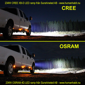 Valbar 126W- 180W- 240W- 288W LED ramp CREE 9-32V
