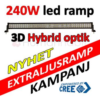 240W LED extraljusramp COMBO CREE XB-D 9-30V