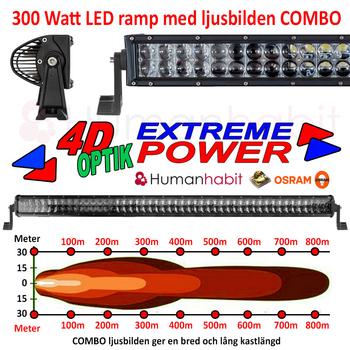 36-300W LED ramp Osram Extreme 4D sidomonterad