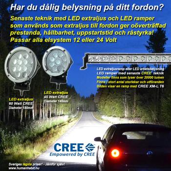 120W CREE XT-E LED extraljus diameter 229mm