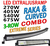 3-radig LED extraljusramp med sidofästen valbar rakt eller böjt chassi 9-32V