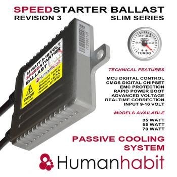 55 Watt 9-16 Volt slim speedstarter ballast