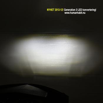 H4 22W CREE LED konvertering med 1800 lumen