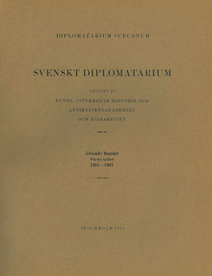 Svenskt Diplomatarium – Del 8:1