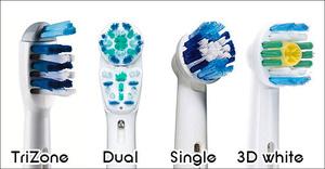 Tandborsthuvuden  4 olika modeller att välja på