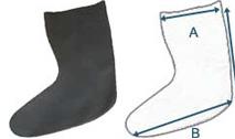 Fötter till torrdräkt - latex