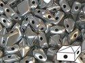 DiamonDuo™ Matte Silver, 03000/01700. 5*8 mm. 40 stycken.