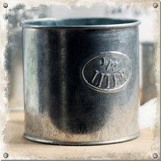 Mått zink, 1/2 liter