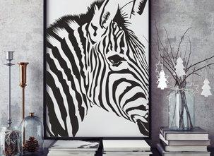 Poster  - Tavla - Zebra